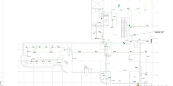 5  Автоматическая пожарная сигнализация план системы оповещения 1 этажа-s