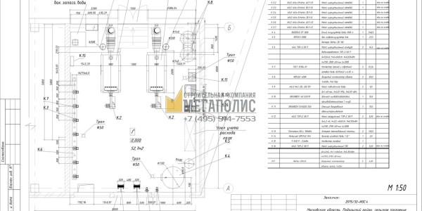 План компановки оборудования котельной