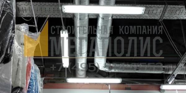Отделка магазина. Монтаж компактной приточной установки с рекупирацией