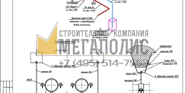 Проект вентиляции и кондиционирования.Схема вентиляции и кондиционирования